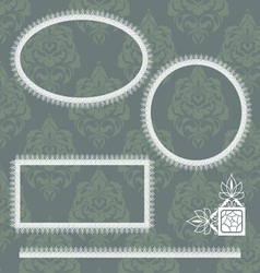 Collection of lace frames vector