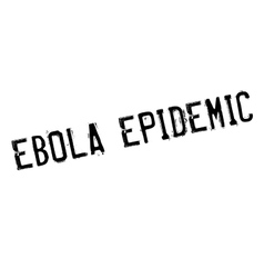 Ebola epidemic rubber stamp vector