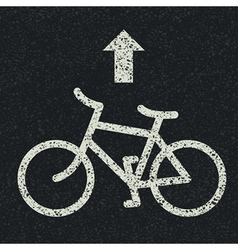 bicycle icon on asphalt vector image