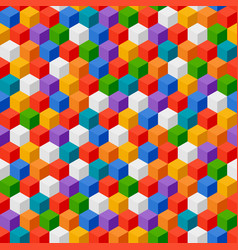 abstract background of color cubes seamless vector image