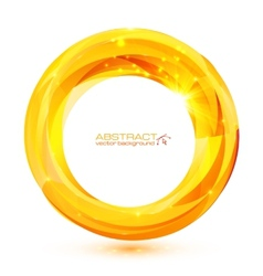 Yellow crystal abstract round frame vector