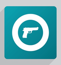 Flat gun icon vector