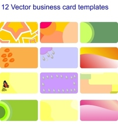 Business card set 02 vector