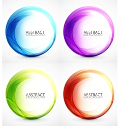 Swirl symbol icon background set vector