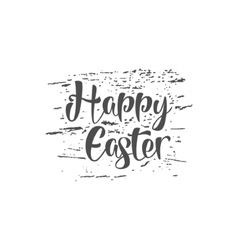 Easter grunge sign - happy easter easter wish vector