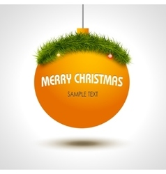 Christmas ball background with xmas tree vector