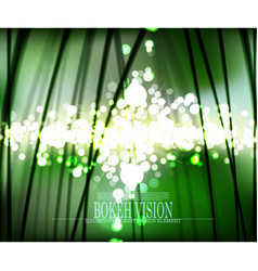 abstract bokeh vision in the forrest background vector image vector image