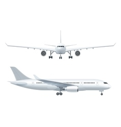 Airplane Realistic Icons Set vector image vector image