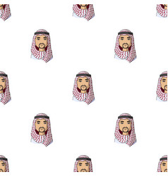 arabhuman race single icon in cartoon style vector image vector image