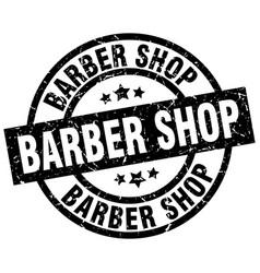 Barber shop round grunge black stamp vector