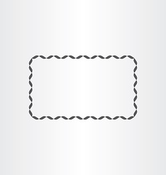 Black rectangle decorative frame element vector