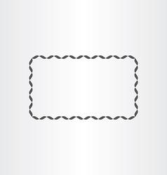 black rectangle decorative frame element vector image vector image