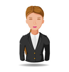 business woman working symbol cartoon vector image vector image