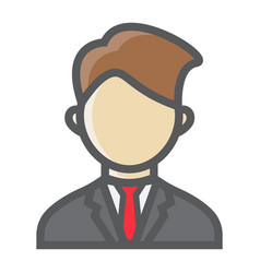 Businessman colorful line icon business person vector
