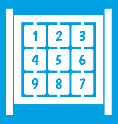 cubes with numbers on playground icon white vector image