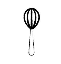 figure whisk kitchen utensil object to cuisine vector image