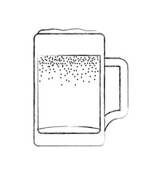 Fresh beer in jar isolated icon vector
