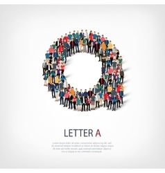 group people shape letter A vector image vector image