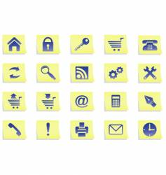 icons on stickers vector image vector image