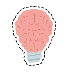 Isolated brain and bulb design vector