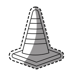 Isolated traffic cone design vector