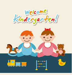Kinder garten cartoon vector