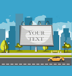 Large blank urban billboard with copy space text vector