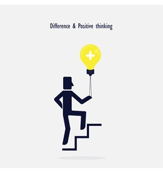 Man on stairs going up vector