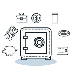 Money related objects vector