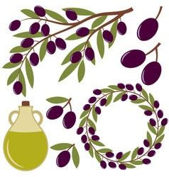 Olives set vector