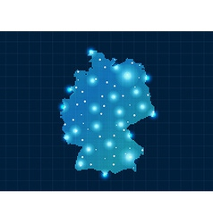Pixel germany map with spot lights vector