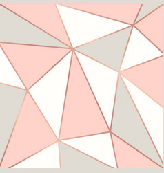 Polygonal background with rose gold frames vector