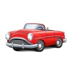 Retro car red convertible vector