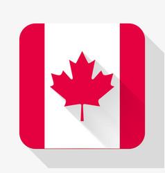 Simple flat icon canada flag vector