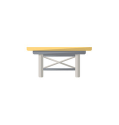 small table isolated icon in flat style vector image vector image