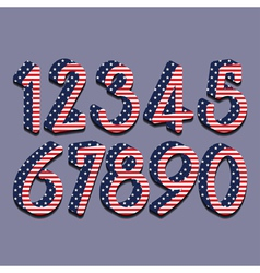 stars and stripes numbers eps10 vector image