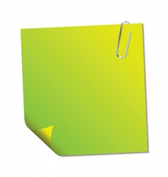 sticky note vector image vector image