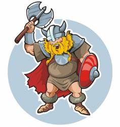 Viking with an axe vector image