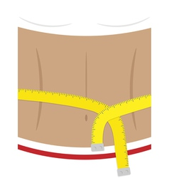 Woman body with measuring tape vector