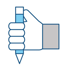 Wooden pencil symbol vector