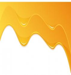 yellow honey flow vector image vector image