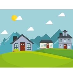 Real estate house isolated design vector