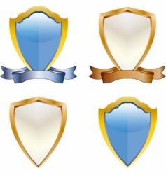 3d shields vector image
