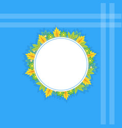 Flat of frame with grass vector