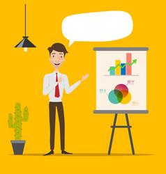 Businessman making a presentation vector