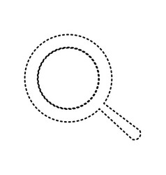 Pan sign black dashed icon on white vector