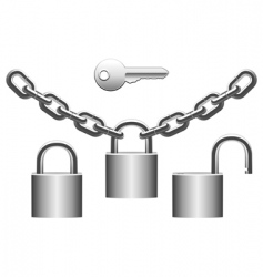 padlocks set vector image
