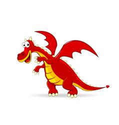 red dragon cartoon vector image