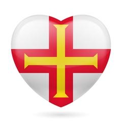 Heart icon of guernsey vector