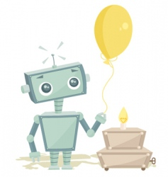 robot birthday vector image